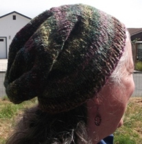 The slouchy hipster hat is done  6,21,11