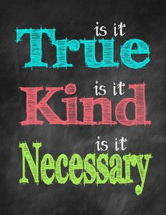 True Kind Necessary