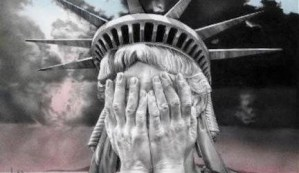 Weeping Statue of Liberty
